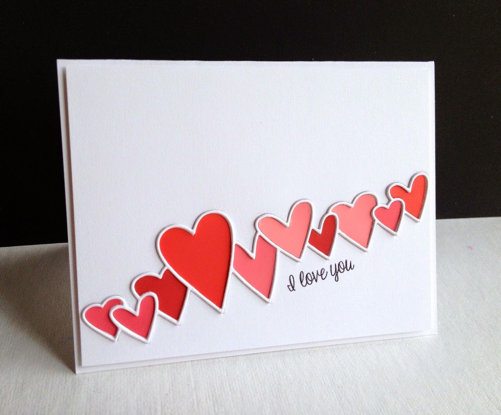 handmade Valentine card from I\'m in Haven: Old Made New #2...Hearts ...