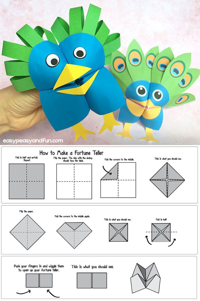 Clever ideas to transform fortune tellers into adorable cootie catcher puppets for kids to play with. One of the coolest origami