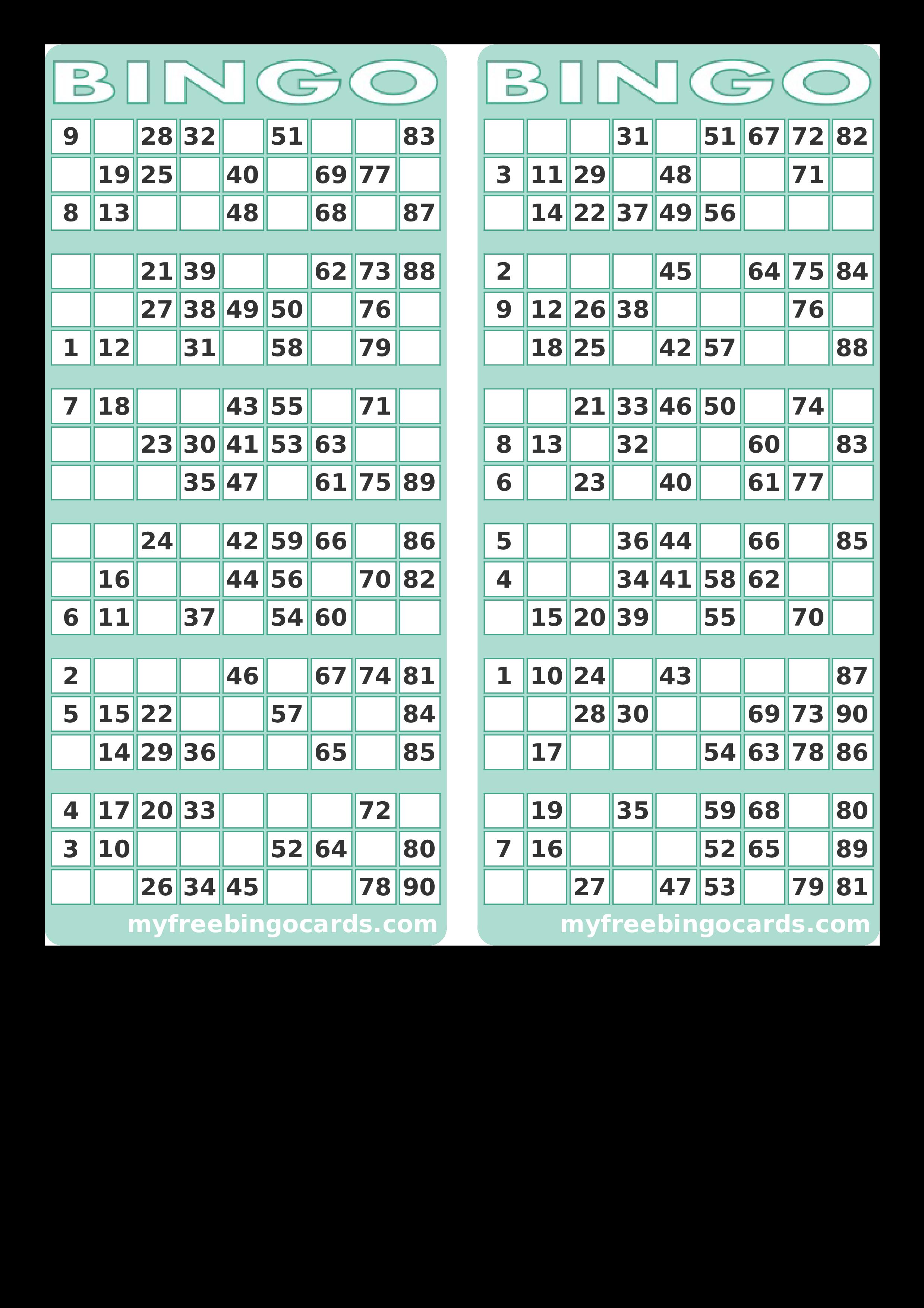 Blank Printable Bingo Card Templates At Allbusinesstemplates Com Bingo Card Template Bingo Cards Printable Bingo Printable