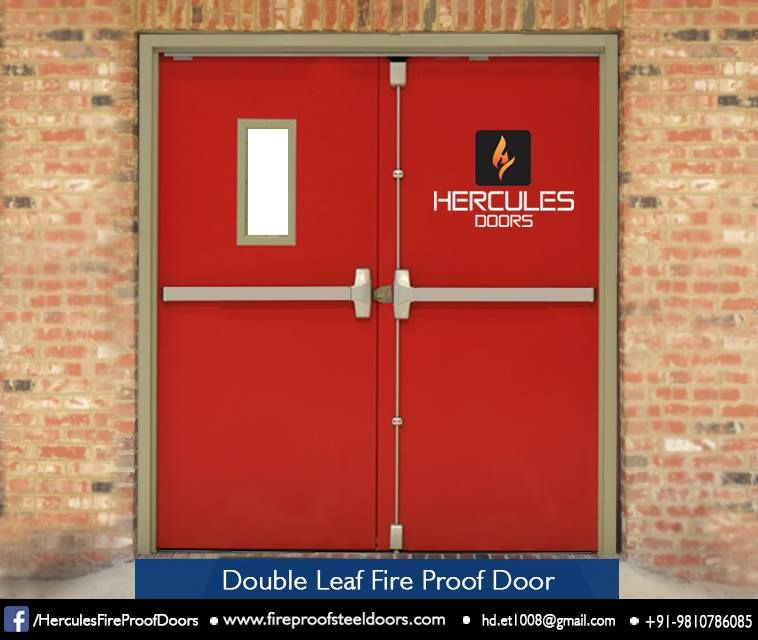 Easy To Fit At Your Commercial Structure Double Leaf Fire Proof Door Is Designed For Larger Entry And Exits Like Theaters Steel Doors Doors Industrial House