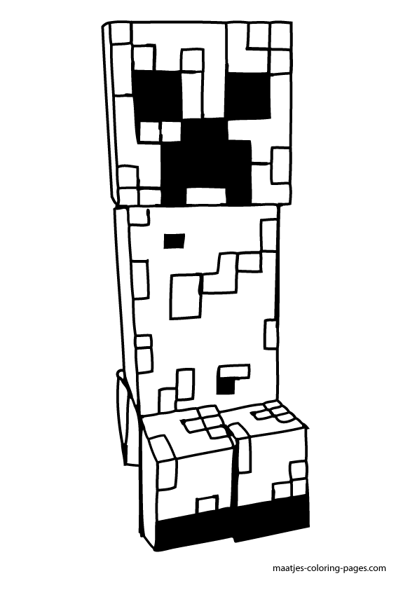 Creeper coloring page | Free Printable Coloring Pages