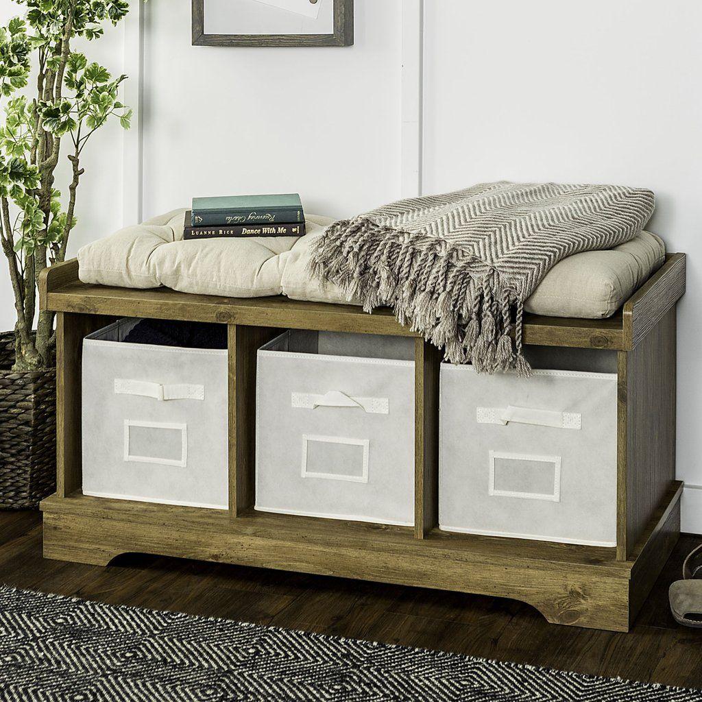 Essential Storage Bench Entryway bench storage, Entryway