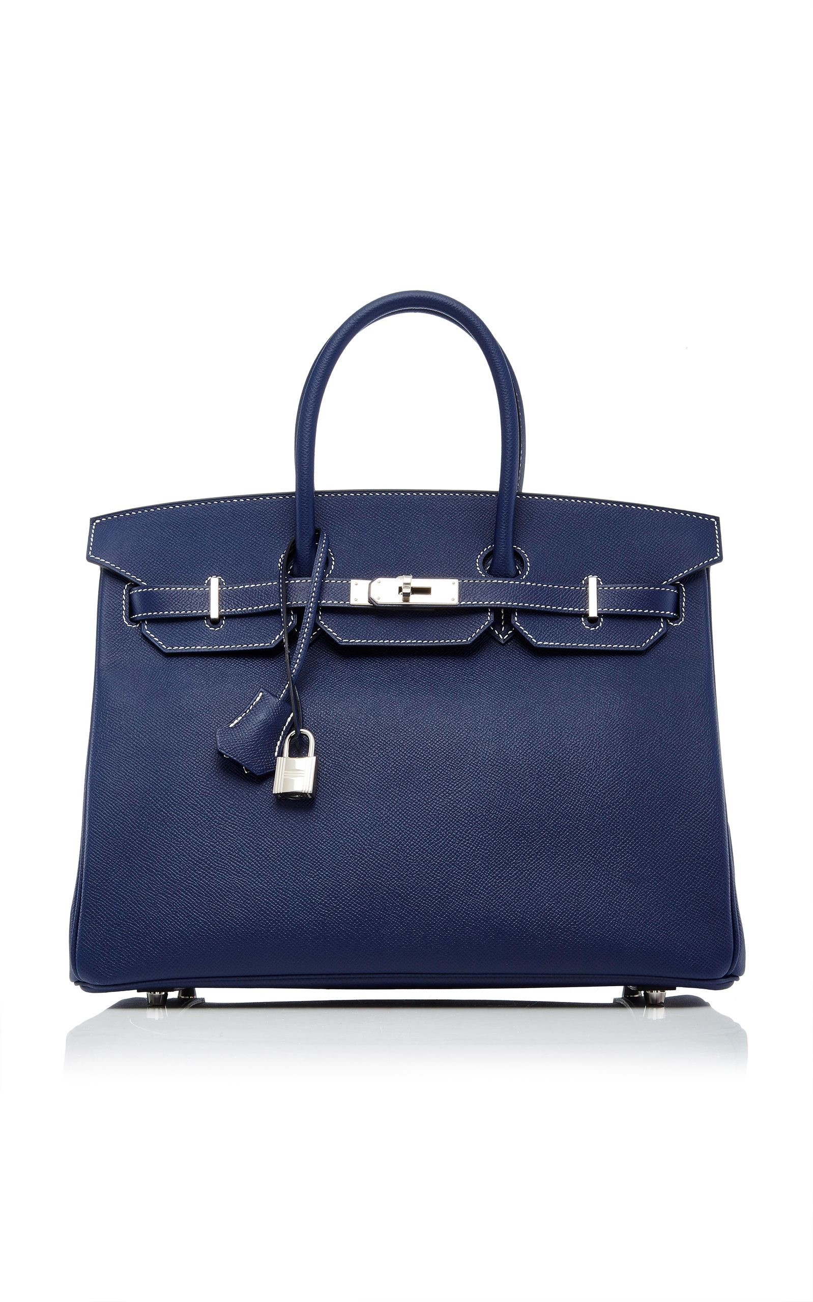 c9a70bcbae4e HERITAGE AUCTIONS SPECIAL COLLECTIONS HERMÈS 35CM BLUE NUIT EPSOM LEATHER  SPECIAL ORDER HORSESHOE BIRKIN.  heritageauctionsspecialcollections  bags   leather ...