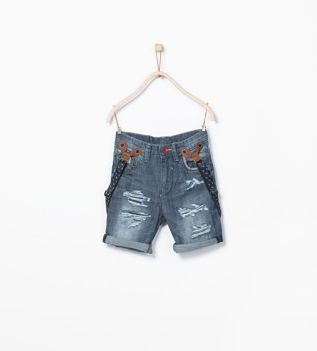 543e1b73a2 Printed jeans shorts-Shorts-Boy (3-14 years)-KIDS