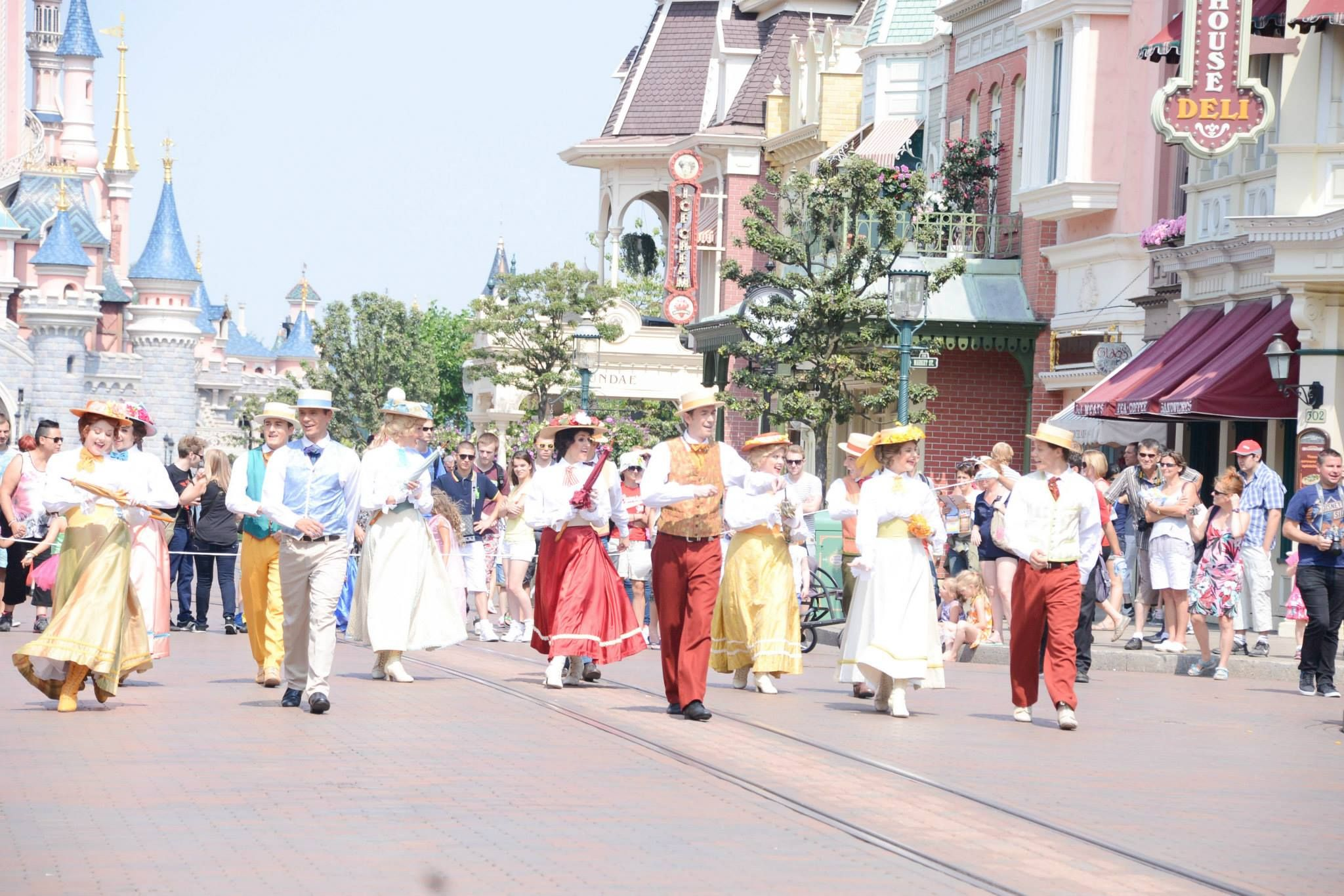 fête les beaux jours on main street USA at disneyland paris, photo by alizea girard