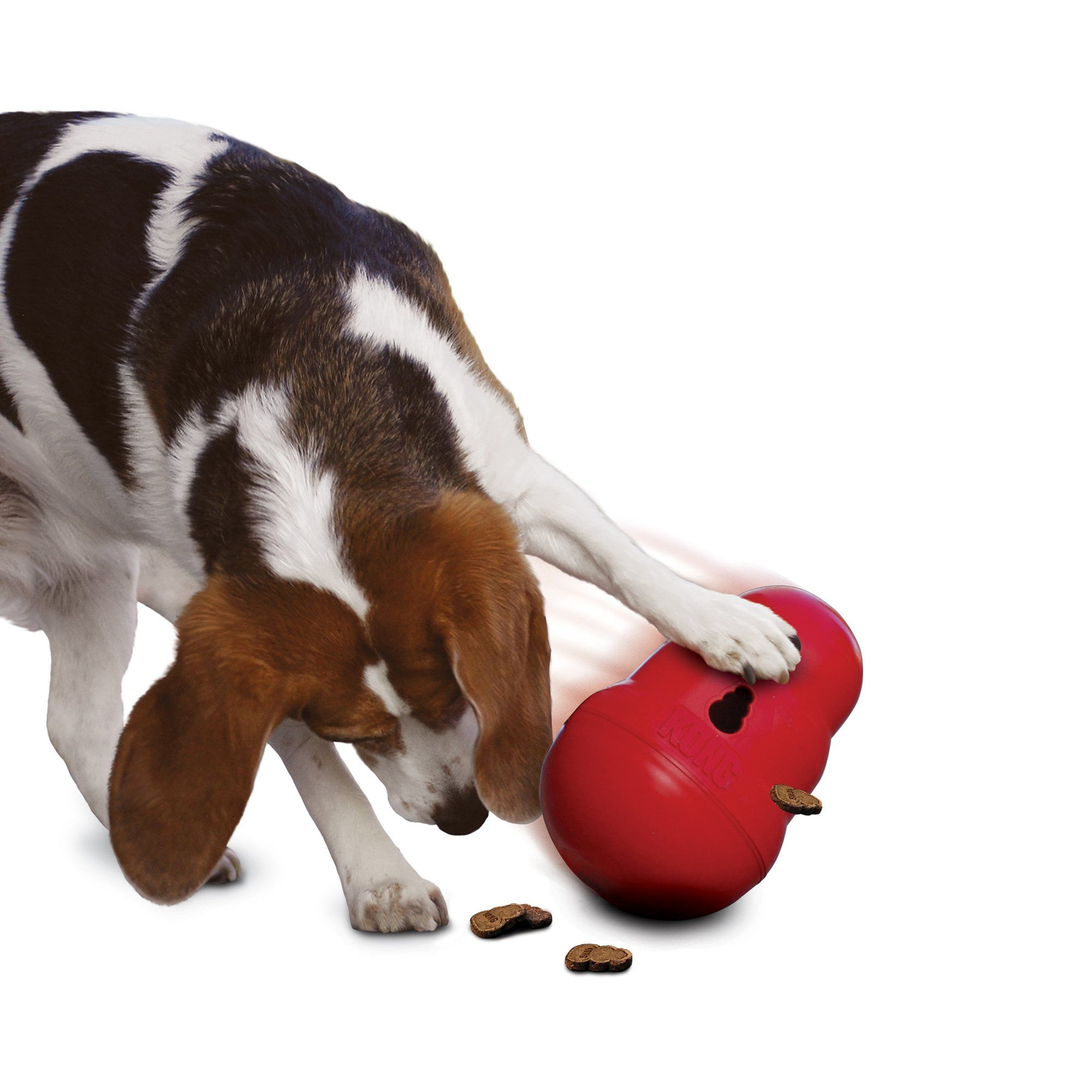 Kong Wobbler Food Dispensing Dog Toy Small Red Interactive Dog