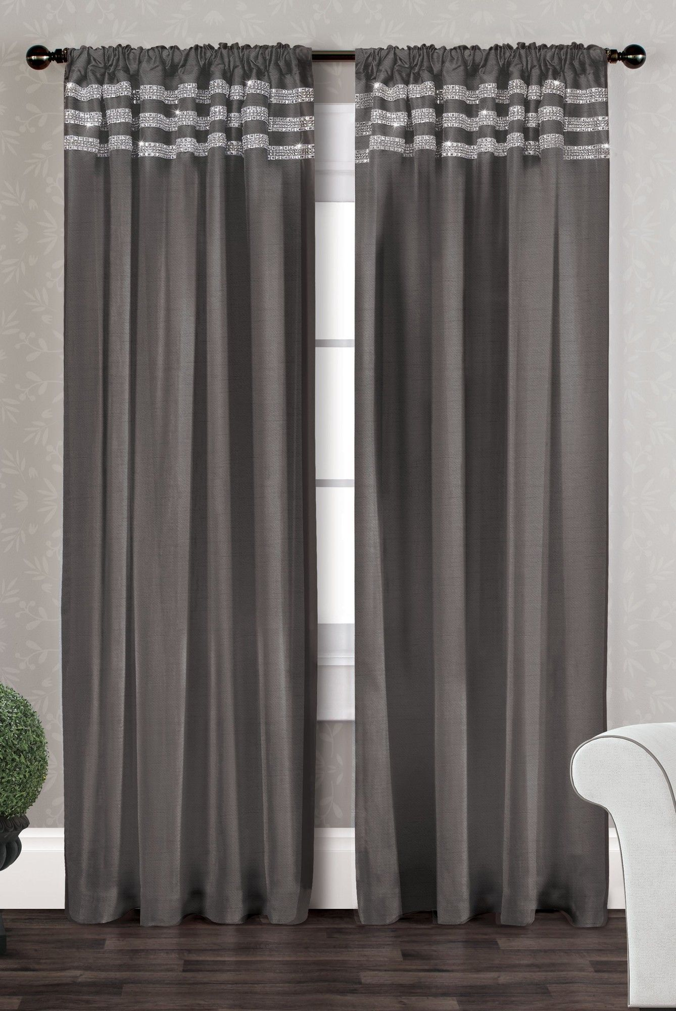 Bling Curtain Panel Panel Curtains Curtains Stylish Curtains