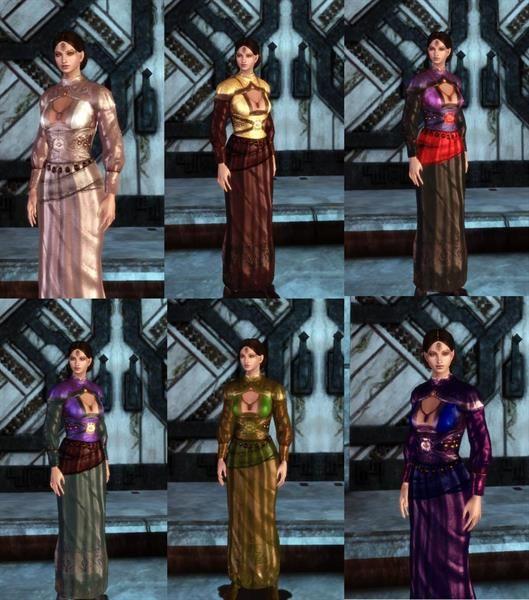Dragon age мод платья