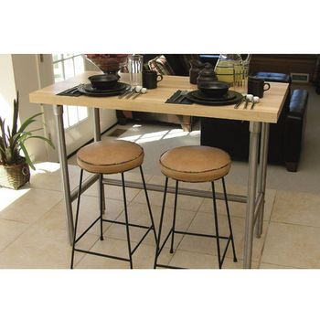 A Line By Advance Tabco Prep Table With Wood Top