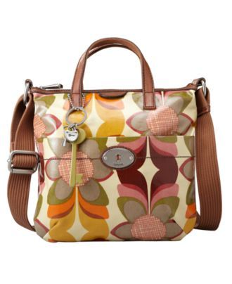 b7cd18e76 Fossil Handbag, Vintage Key-Per Coated Canvas Crossbody Bag - Handbags &  Accessories - Macy's.....i have this exact style but with a different  pattern....i ...