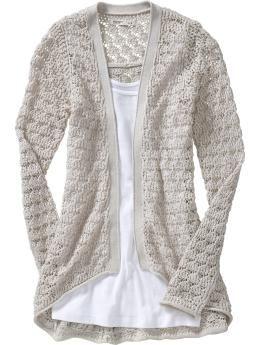 Crochet Cardi...Old Navy $24.00