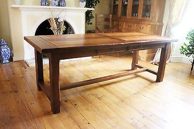 10 5 Foot French Vintage Rustic Solid Oak Farmhouse Harvest Table Seats 12 Dining Table In Kitchen Harvest Table French Farmhouse