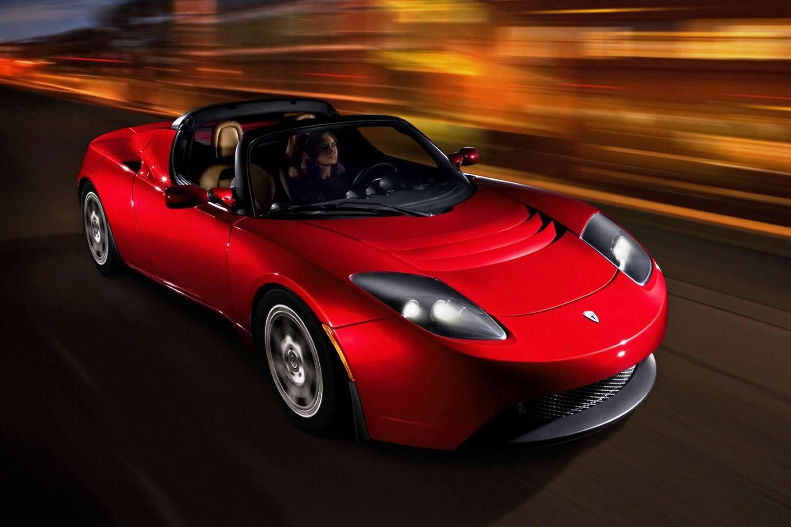 Tesla's first car was a 100 electric sports car based on