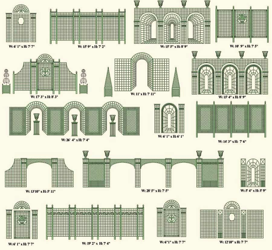 Trellis Designs Within Formal French Formal Gardens ELIOT RAFFIT    ROMANTISME Architect, Artist U0026 Designer