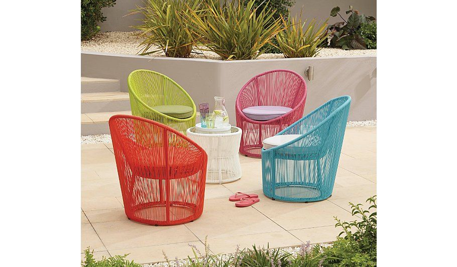 Primo Egg Bistro Chair Blue Garden Furniture George At