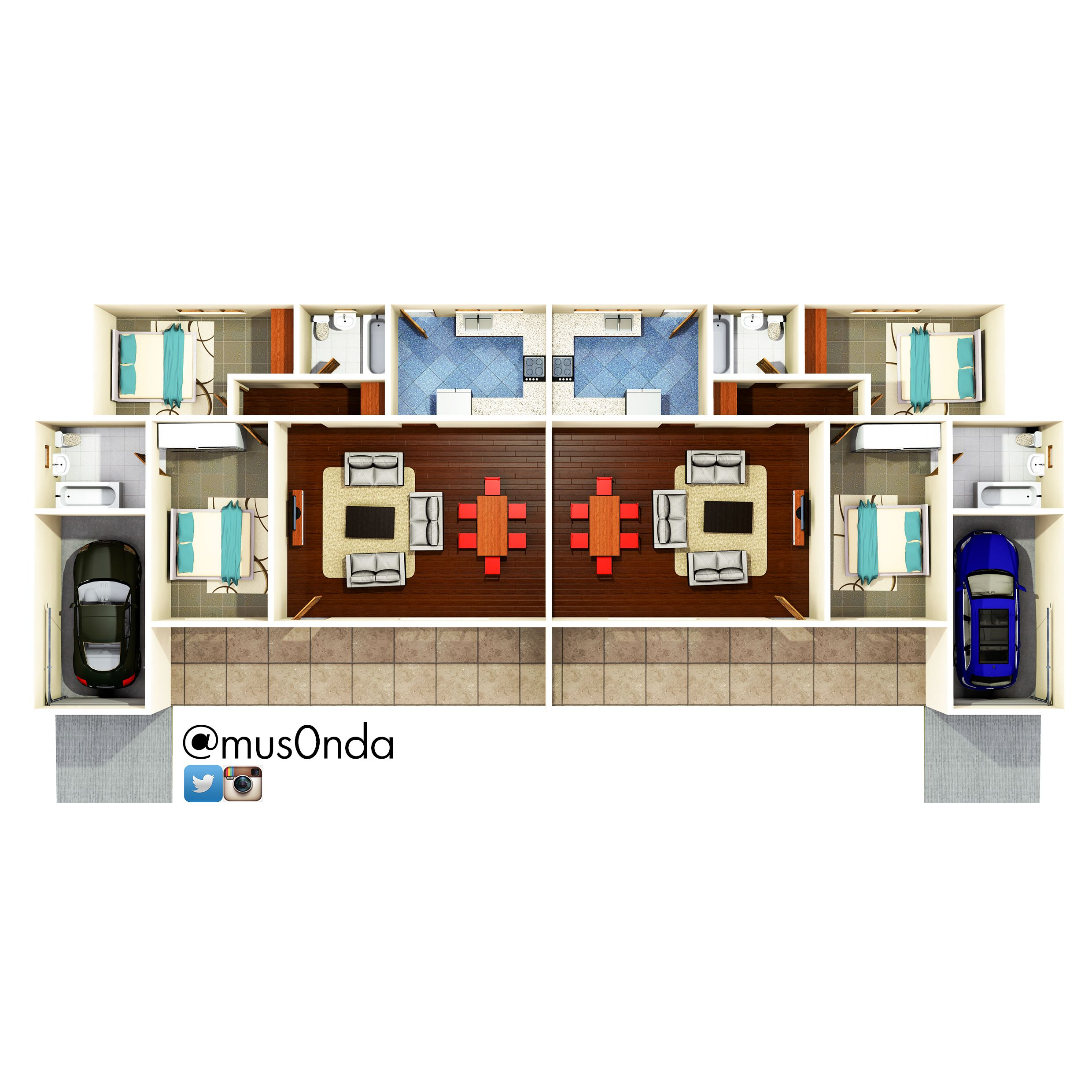 Semi Detached House 2 Bedroom Small House Design Plans 2 Bedroom House Plans Renting A House