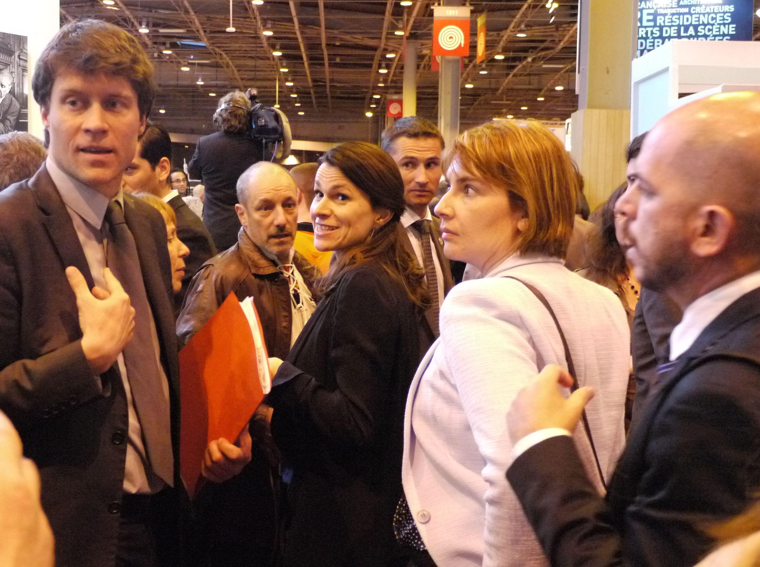 Aurélie Filippetti, Ministre de la Culture et de la Communication, était à l'inauguration du Salon du livre de Paris, jeudi 20 mars