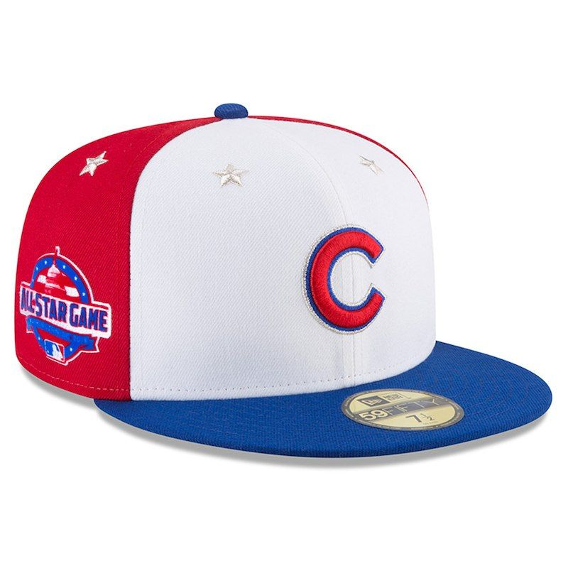 141e86298c4a72 Chicago Cubs New Era 2018 MLB All-Star Game On-Field 59FIFTY Fitted Hat –  White/Royal