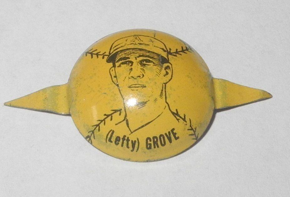 Pestañas de béisbol 1938 Pin/Botón/Moneda Lefty Grove Boston Red Sox pinback | eBay