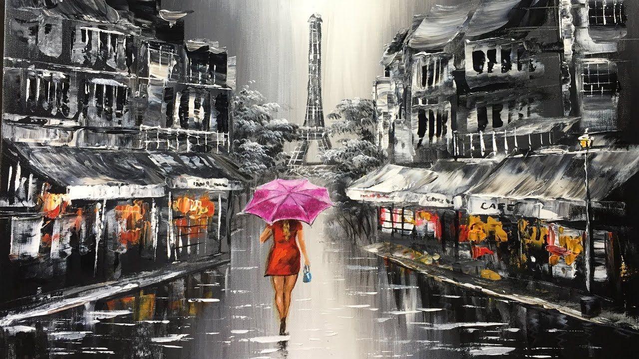 Red Umbrella Canvas Print Decor Choose Your Size !!!