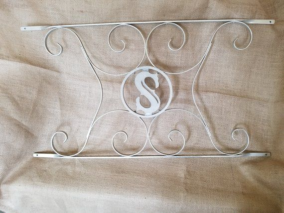 Vintage Screen Door Scroll Initial Aluminum Metal Grille Guard Panel With Initial S Vintage Screen Doors Screen Door Screen Door Grill