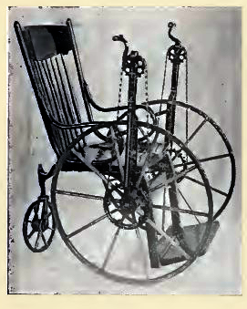 """""""Invalid's Tricycles"""" with hand crank, Stevens Chair Co., c. 1905"""