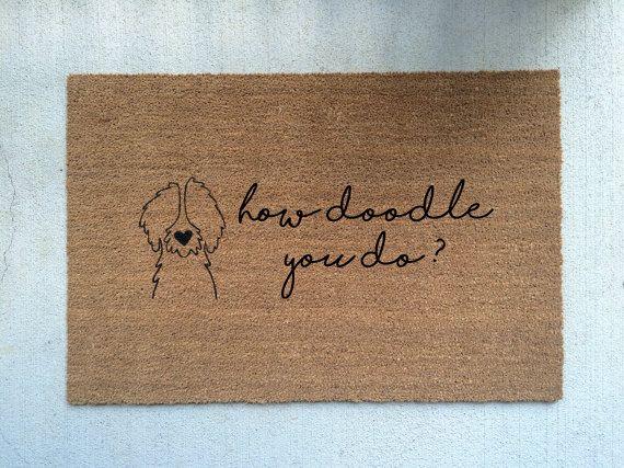 Door Mat/Goldendoodle/Labradoodle/Dog Gift & HOW DOODLE You DO?//Door Mat/Goldendoodle/Labradoodle/Dog Gift/Dog ... Pezcame.Com