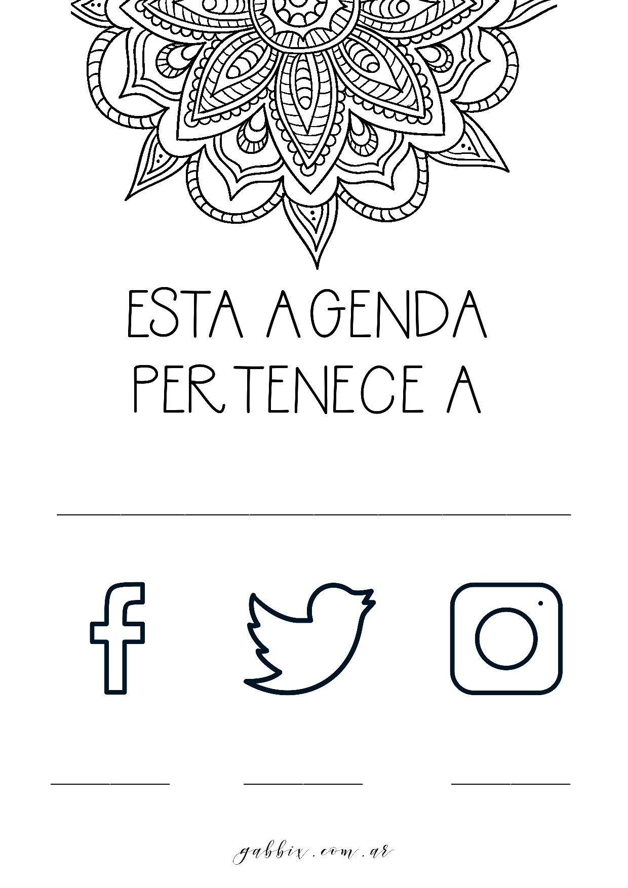Agenda 2018 con mandalas para colorear y jornal para planear tus ...