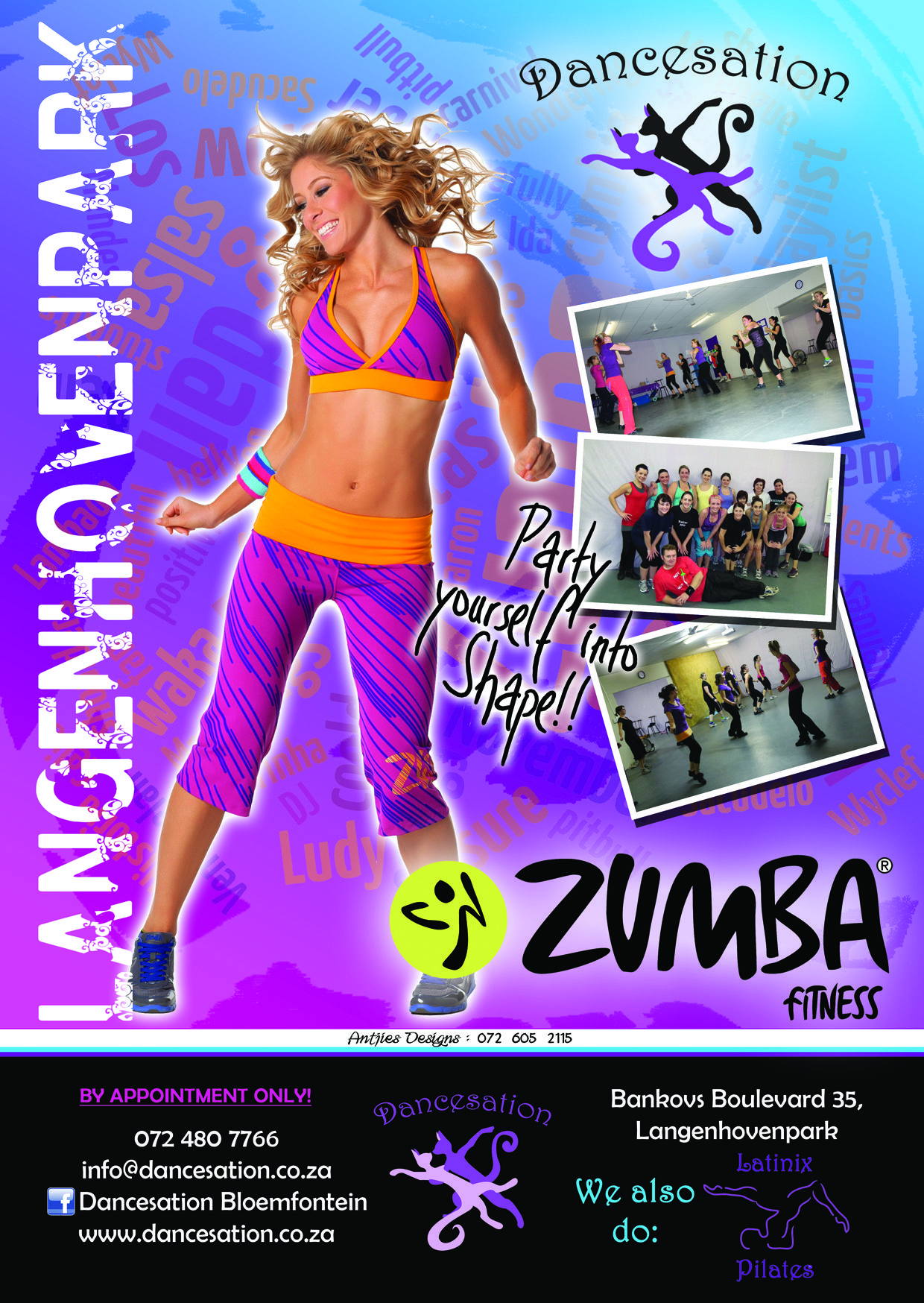 Zumba poster design - Our First Zumba Flyer Poster