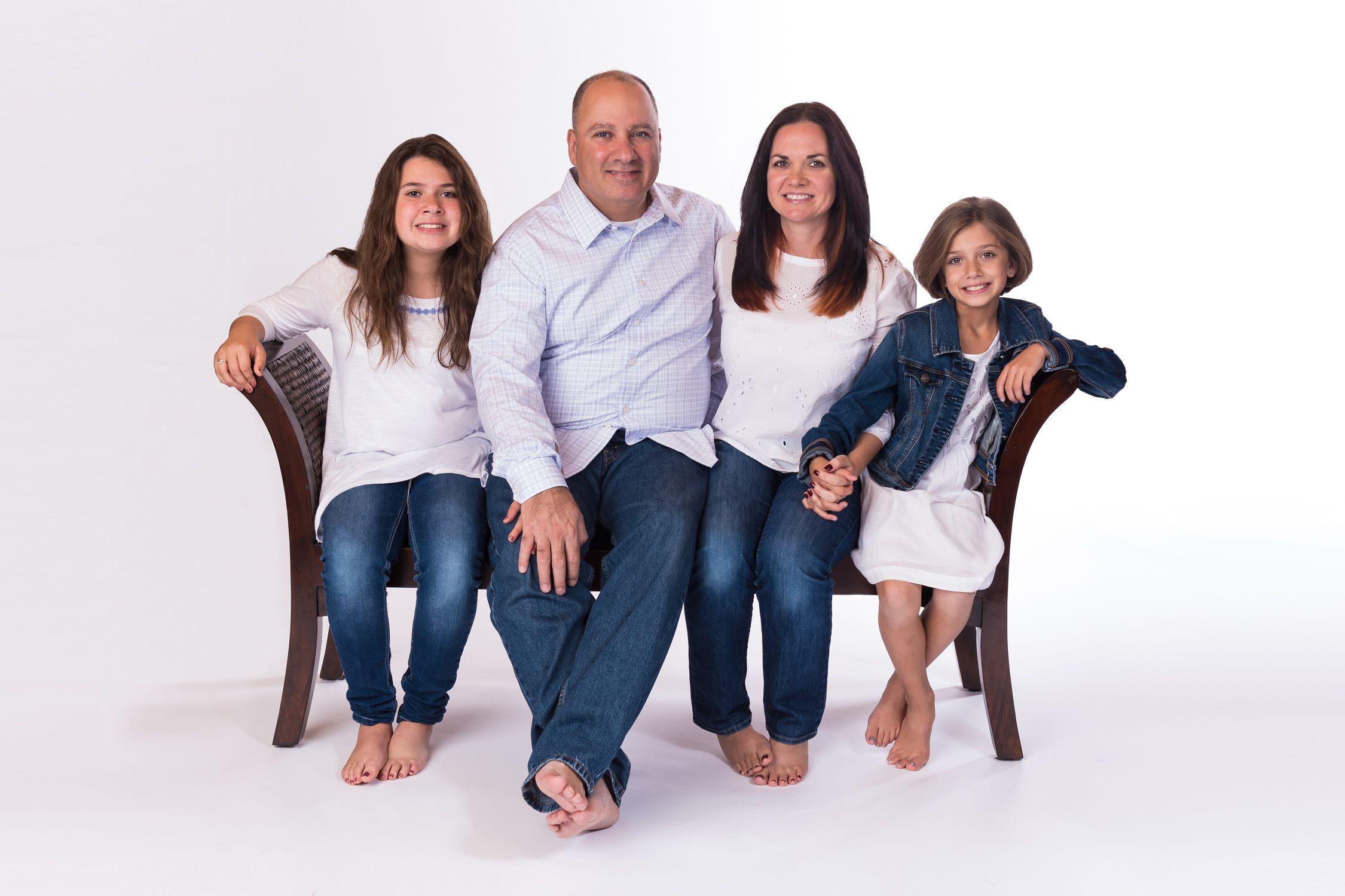 Family portrait white background 1