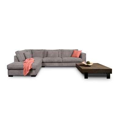 Sofa Stuttgart hoekbank stuttgart groot rechts ribcord antraciet