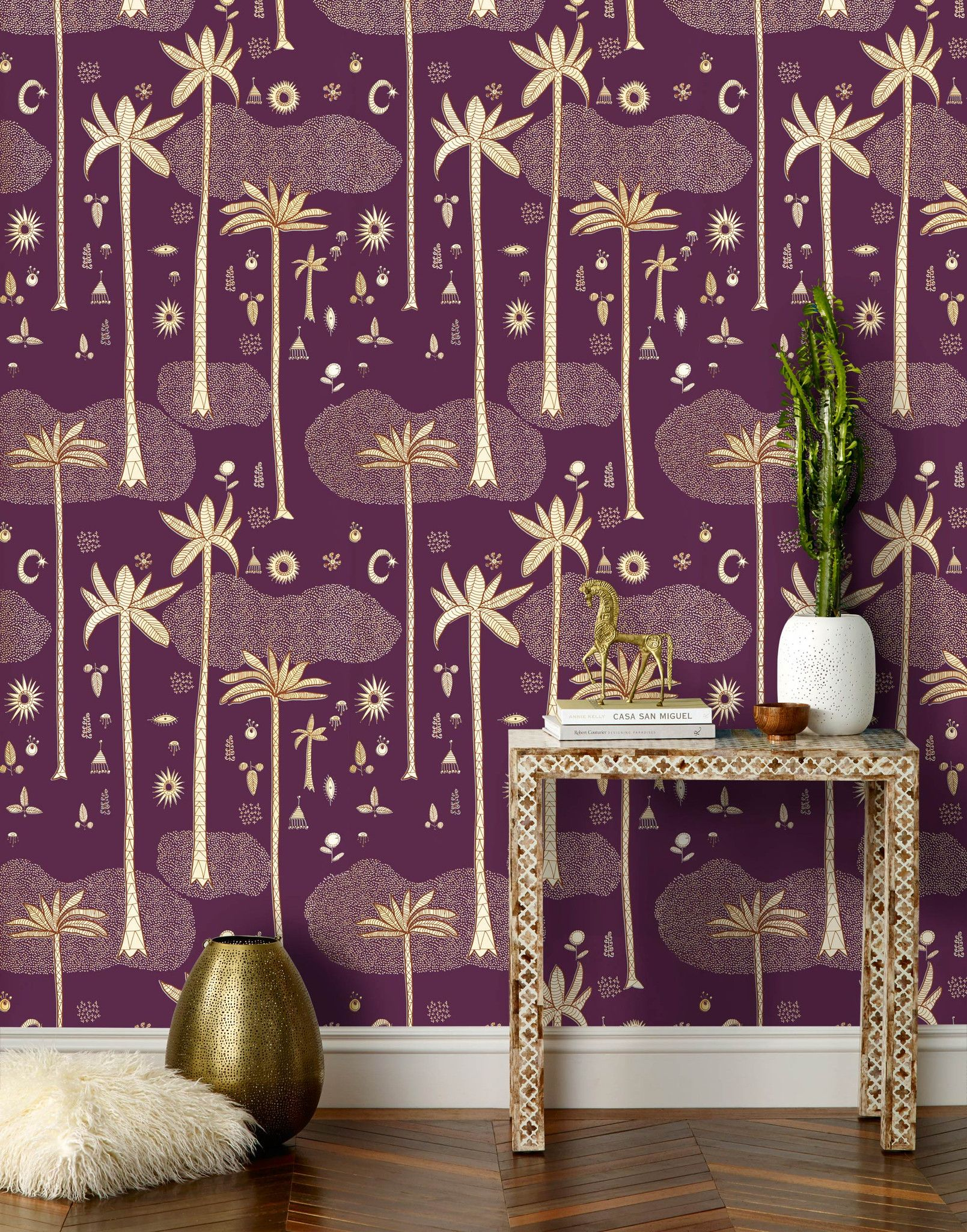 cosmic desert (aubergine) || cosmic desert wallpaper is inspired