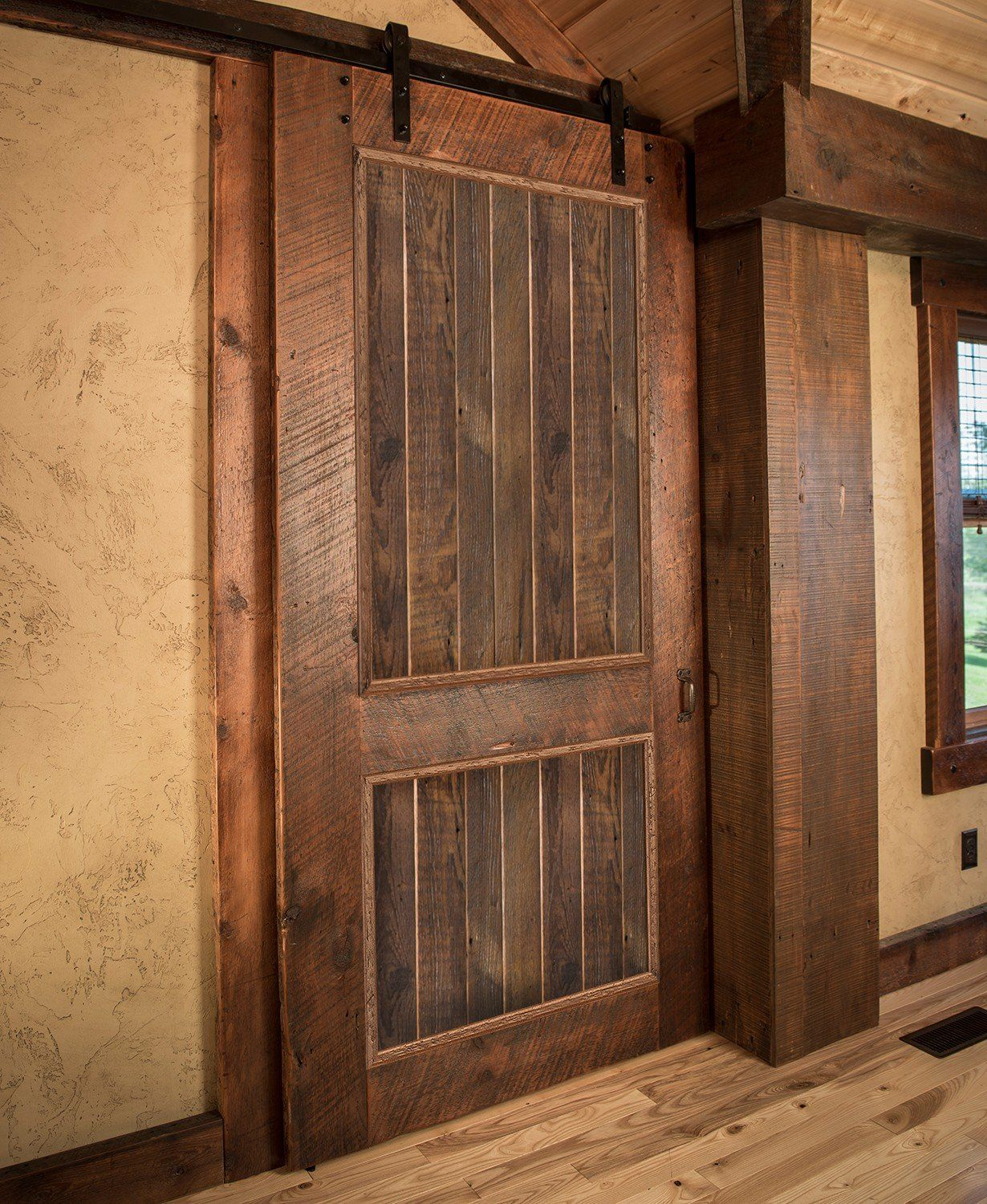 Alder Timber Frame Barnwood Sliding Door Barn Doors Sliding