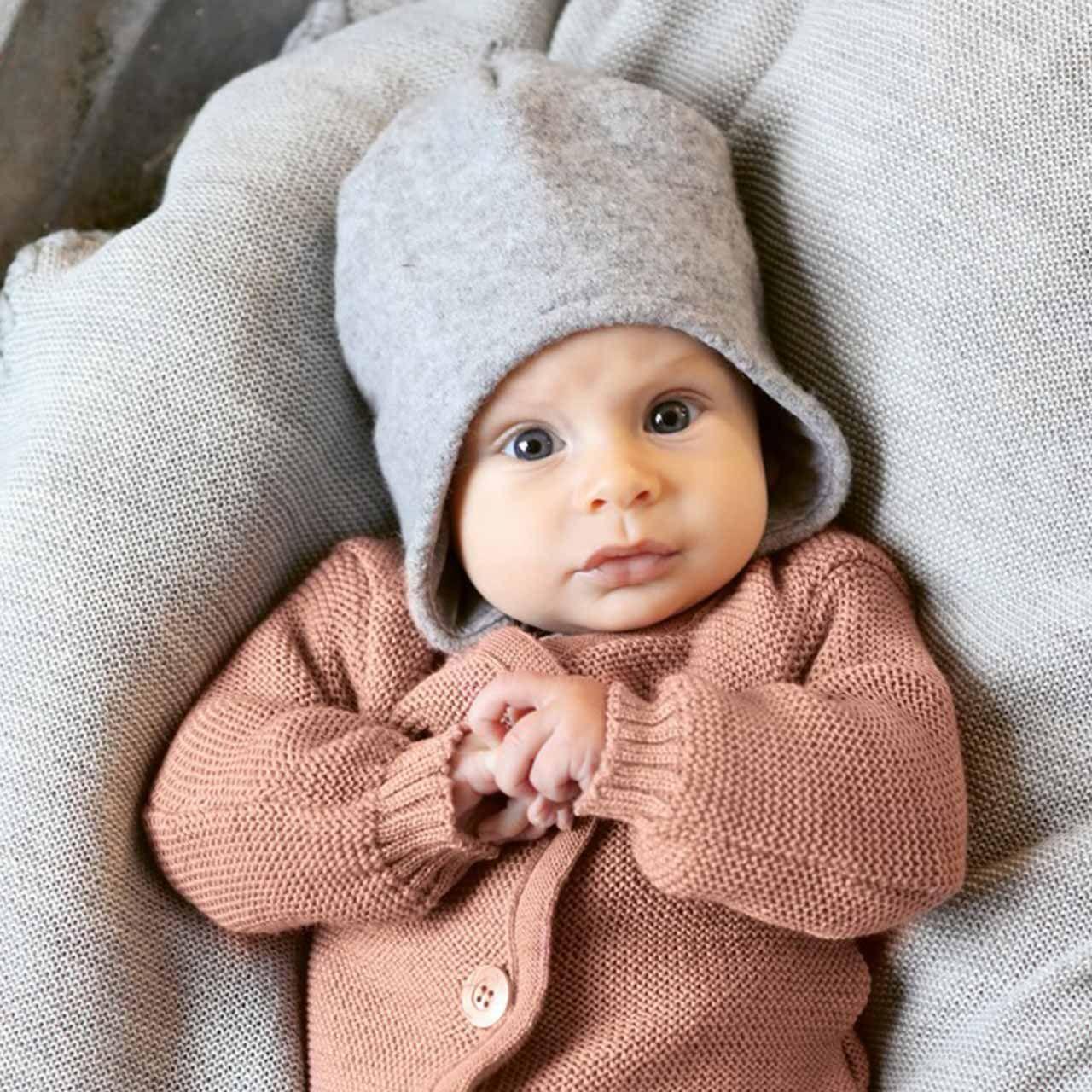 disana Baby//Kinder Walk Mütze Wintermütze warm aus reiner Bio-Merinowolle