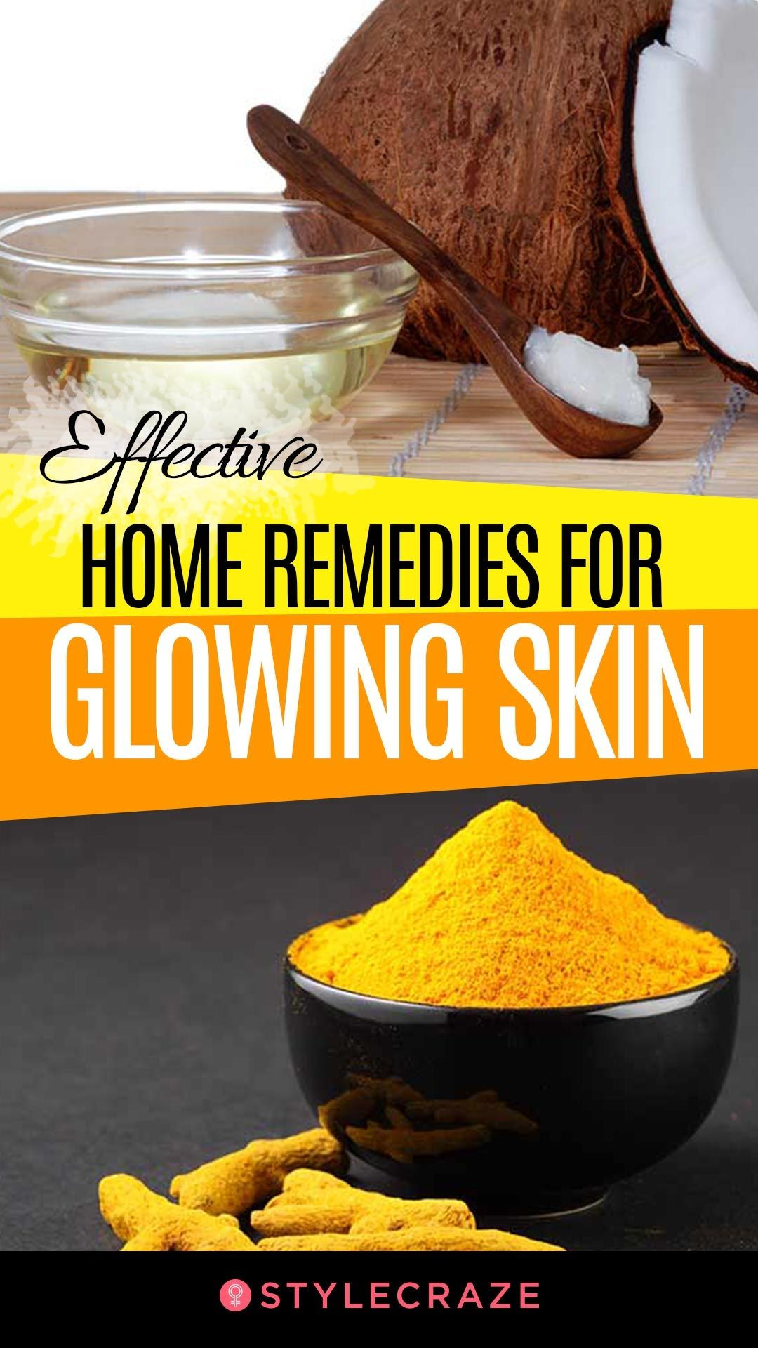 20 Effective Home Remedies For Glowing Skin That Really Work #beauty #tips  #glowingskin #skin