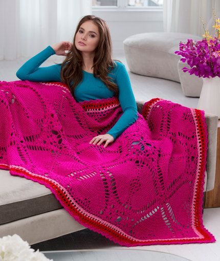 Love My Valentine Throw Free Crochet Pattern From Red Heart Yarns