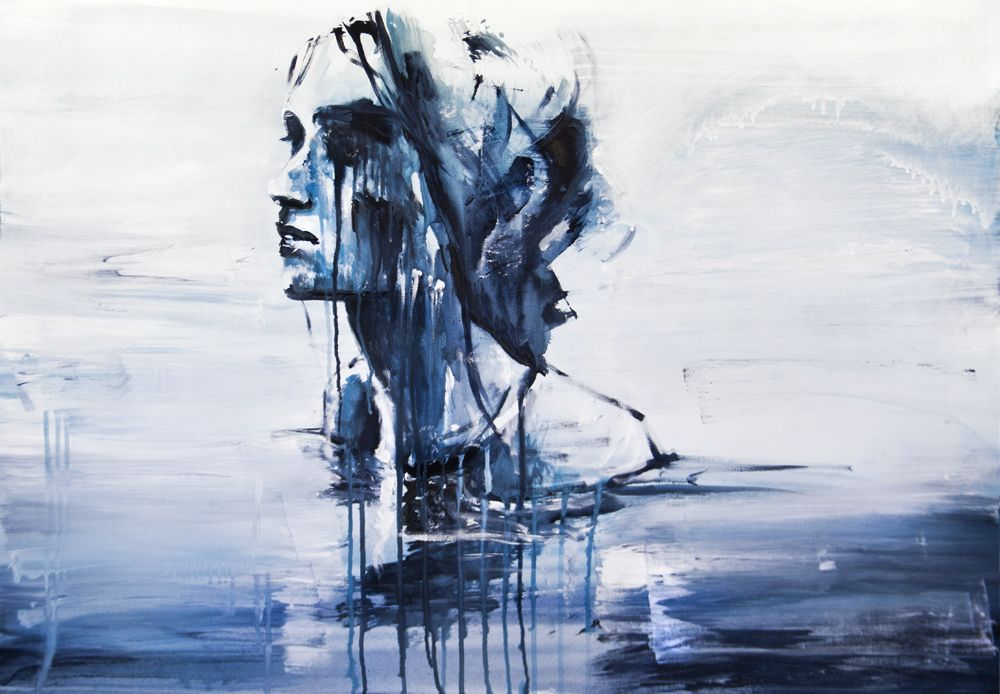 """""""nell'acqua"""" acrylic painting by Silvia Pelissero this is just GREAT."""