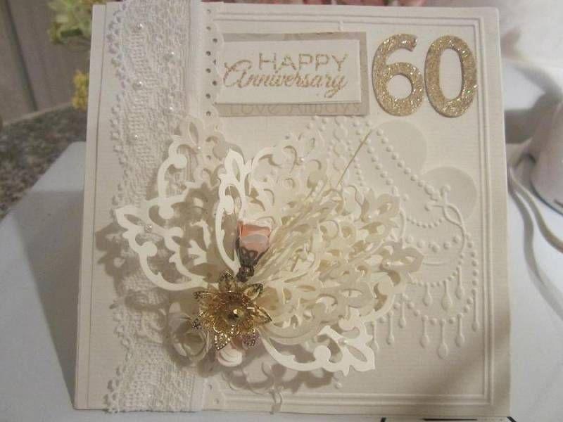 Card Making Ideas For 60th Anniversary Part - 30: 60th Anniversary Card
