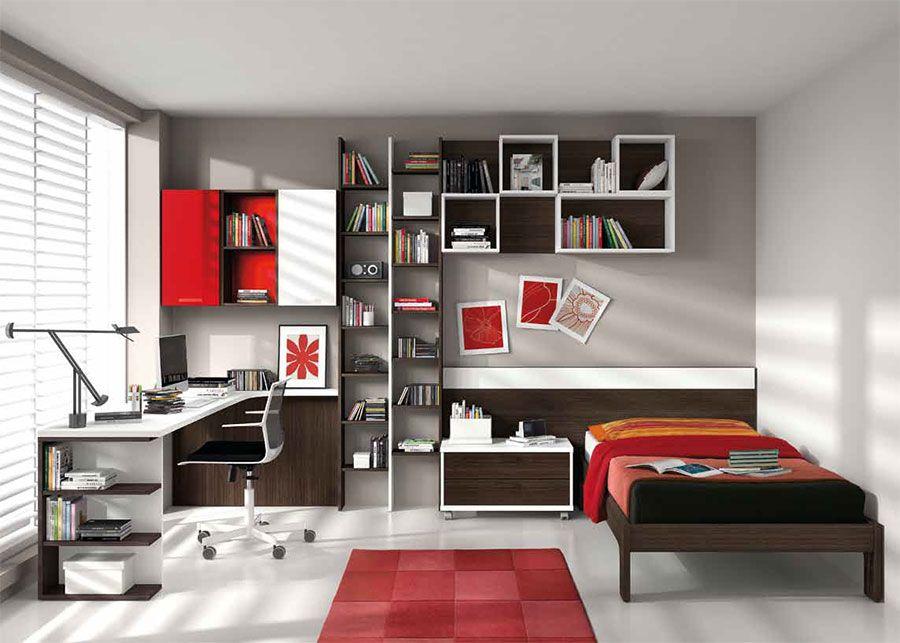 Chambre enfant complète contemporaine CANADA, coloris blanc, marron