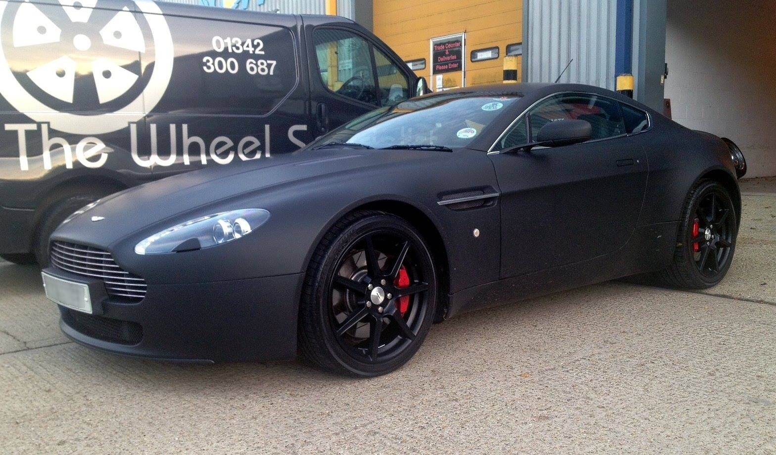 My First Vantage V8 Wrapped In Matt Black And With Black Wheels
