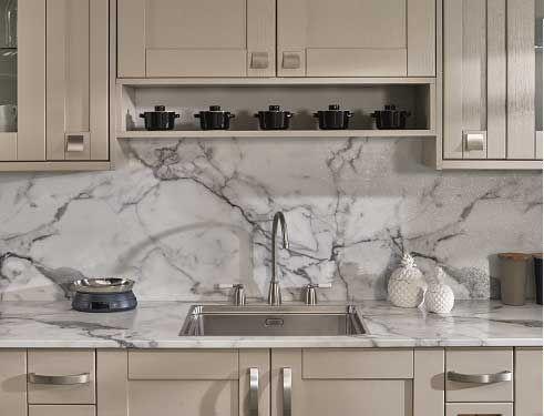 Calacatta Marble Prima Formica Laminated Worktop Laminate Worktop Kitchen Remodel Kitchen Worktop