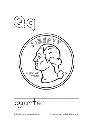 letter q coloring book free printable pages - Coloring Page Q