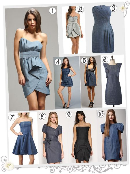 Denim Dress for the summer. Ten different denim dresses to love! Pick your  favorite - Denim And Diamonds Gala -outfit Inspiration Fashion Pinterest