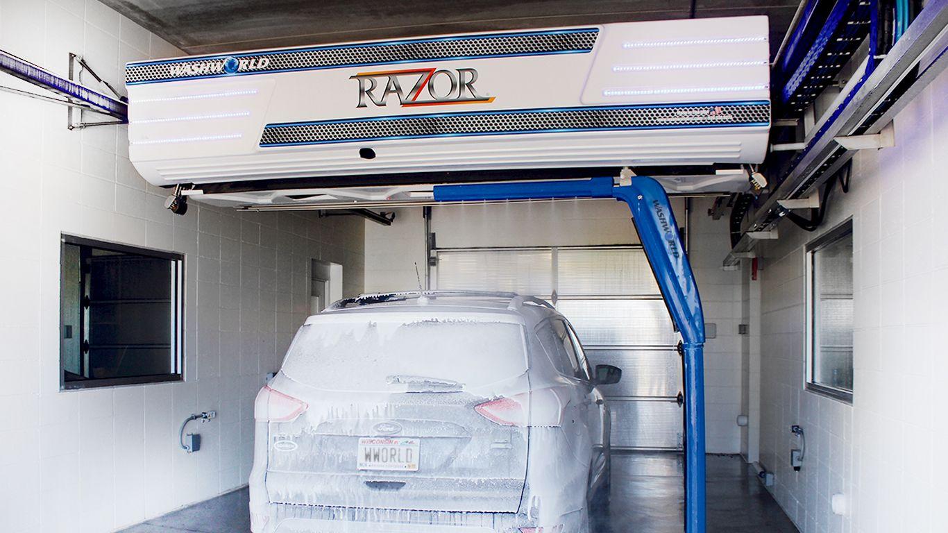 The Washworld Razor is an innovative, touchfree, inbay