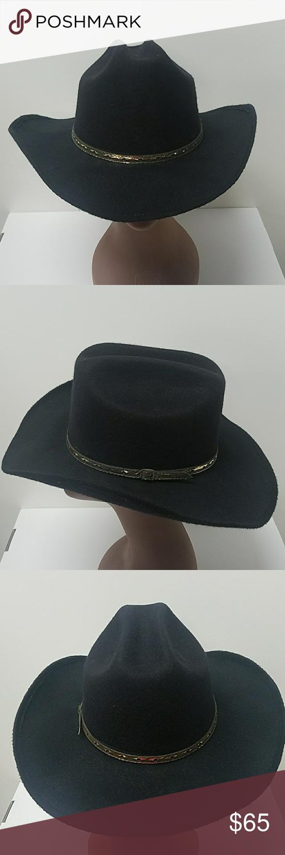 Black Cowboy Hat Size 7 5 Black Cowboy Hat Cowboy Hats Black