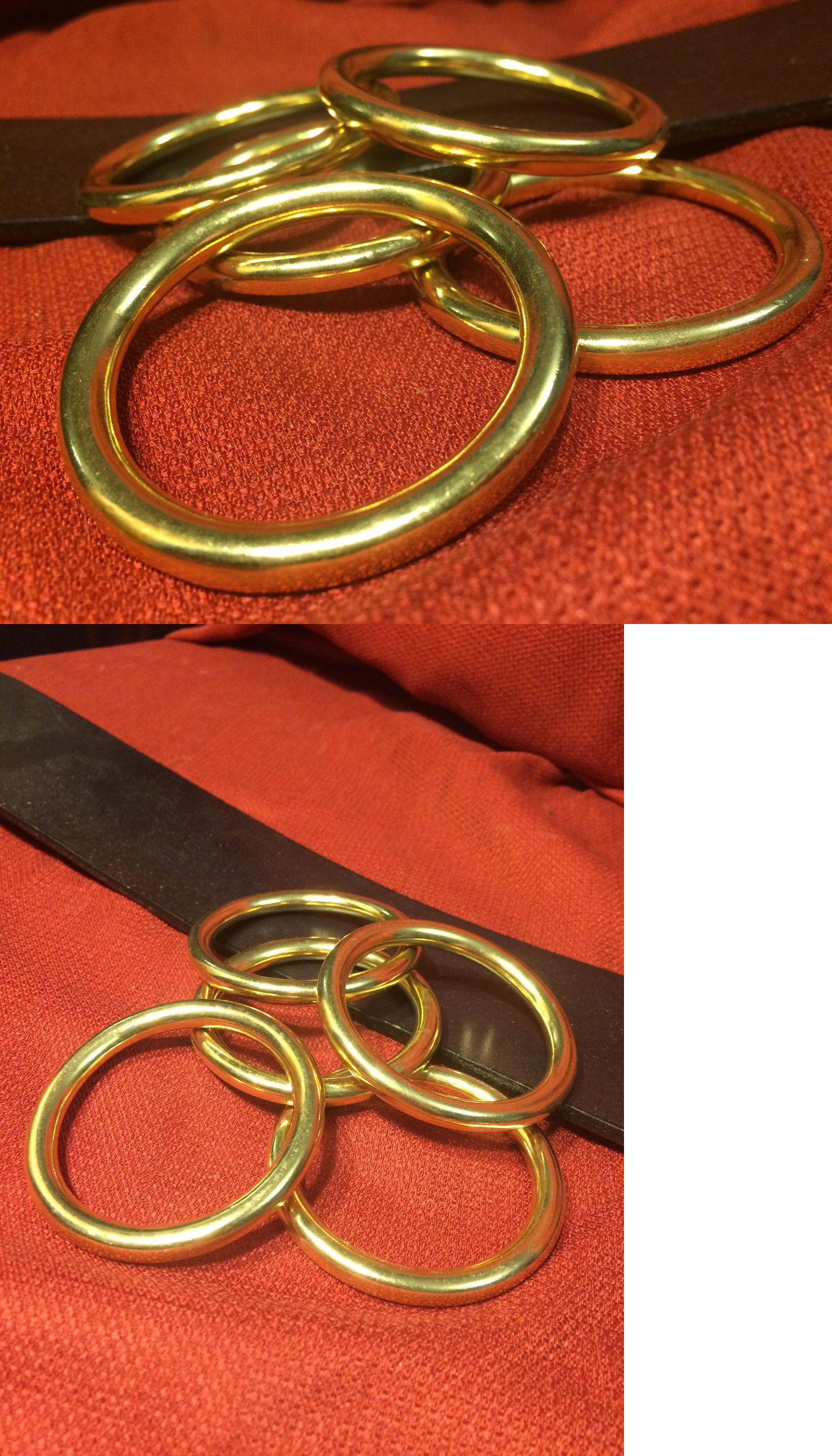 Buckles 134571: 1.5 I.D. Solid Brass O Rings For Belts Tack Sca Larp ...
