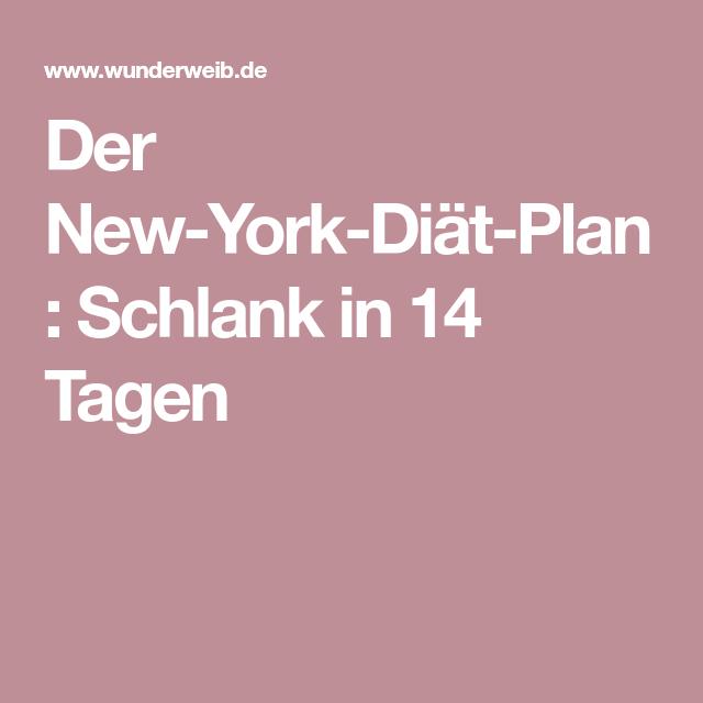 Der New York Diat Plan Schlank In 14 Tagen David Kirsch