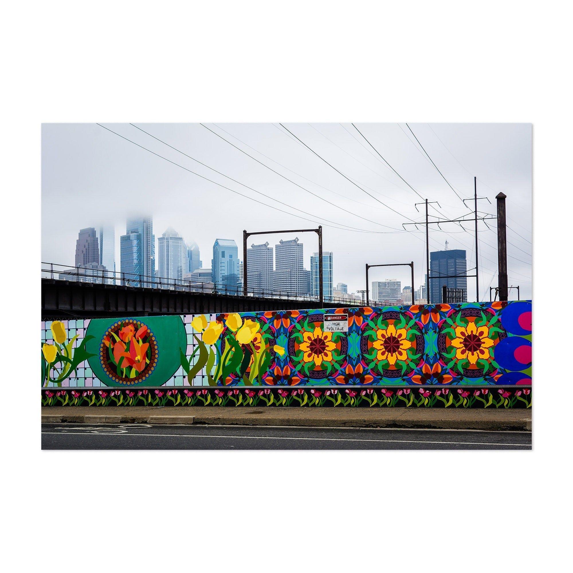 Noir gallery philadelphia skyline mural unframed art print
