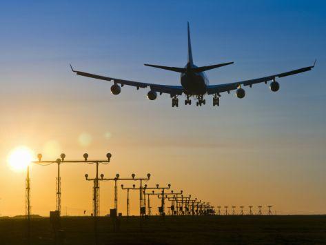 747 LANDING AT SUNSET