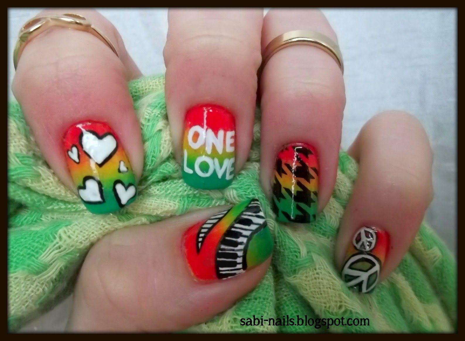 Sabi-nails: Reggae music nails + odrobina motywacji | Nail designs ...